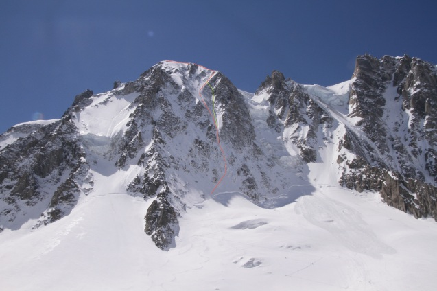 Looking Up at Les Courtes